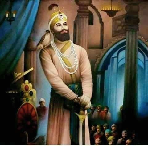 #SikhArt  Beautiful Painting of Guru Gobind Singh Ji  Courtesy-  Javed Hashmi  Share & Spread this beautiful work! — with Aakash Masitan.