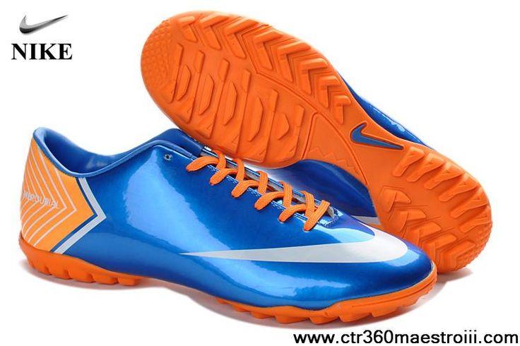 Cheap Discount Nike Mercurial Vapor X TF Blue Soccer Boots For Sale