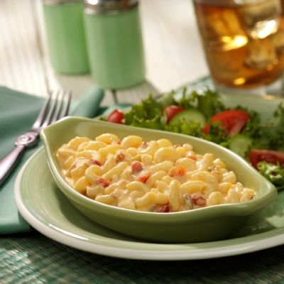 Smooth and creamy macaroni and cheese with the spicy kick of Ro*Tel tomatoes.  Velveeta® is a registered trademark of Kraft Foods, Inc.  Ro*Tel® is registered trademark of ConAgra Foods RDM, Inc.