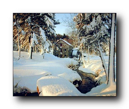 Simply beautiful! This wall poster will be a wonderful addition to your home especially for nature lovers. This winter landscape art print poster captures the image of an wayside inn mill, field totally covered under snow and the most beautiful thing in this poster is that the snow spread on the trees which make this poster most attractive that everyone can't stop them to buy this poster to make their walls look wonderful. This poster makes any space the center of attraction. Goes with all…