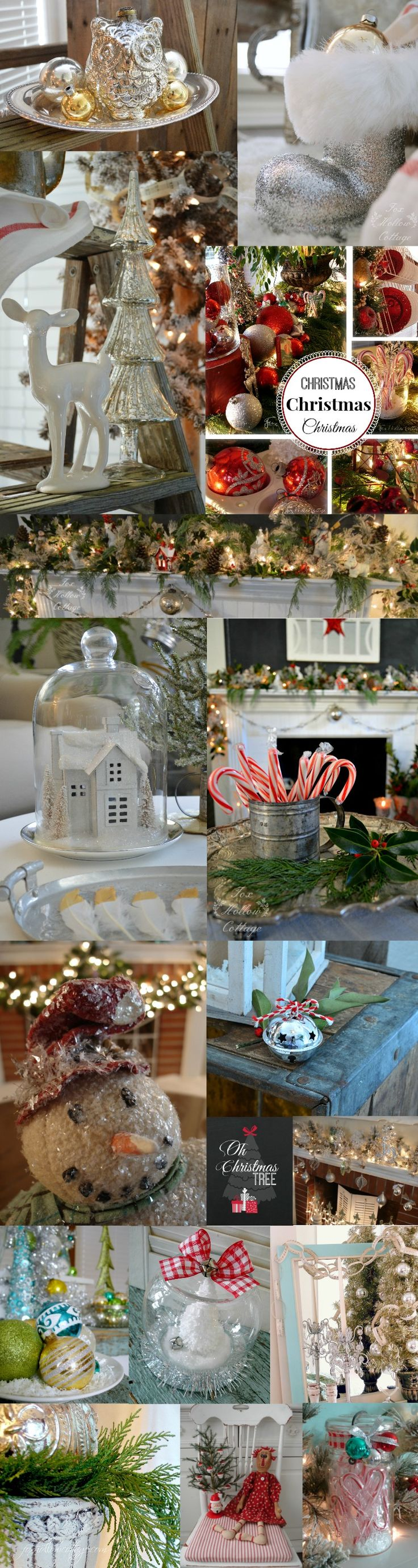 Fox Hollow Cottage Christmas: budget crafts, free printables and variety of decorating ideas for the holidays - #Christmas