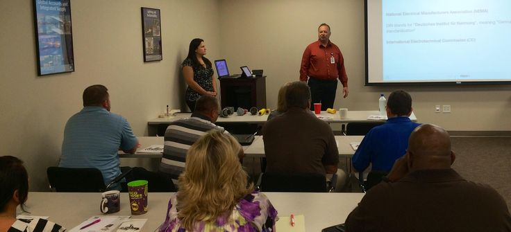 Doug Ales  providing hands on training of @tnbcorporate #IEC #60309 #Power connectors with #IP69K ingress protection