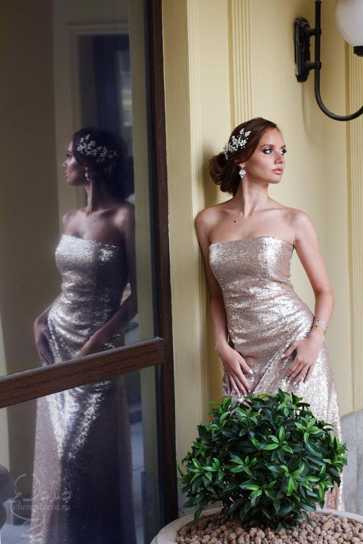 2015 свадебный образ и низкий пучок на длинные волосы wedding bride make-up and hair Дарья Черентаева
