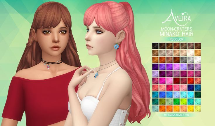 aveirasims:  Moon Craters Minako Hair - Recolor  ... | love 4 cc finds