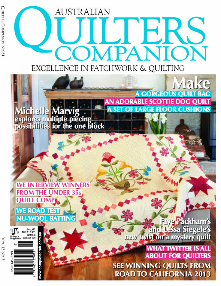 Quilters Companion #61 cover
