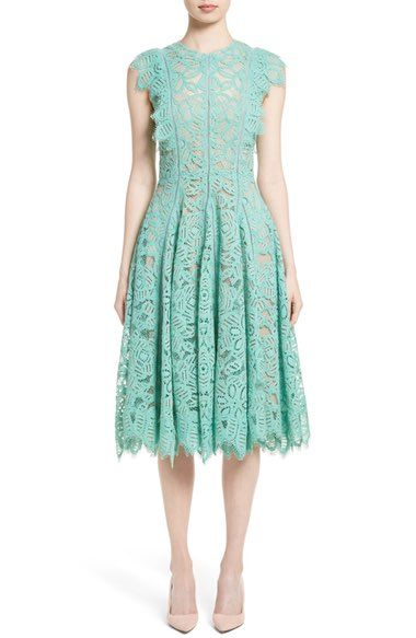 Lela Rose Lace Fit & Flare Dress available at #Nordstrom