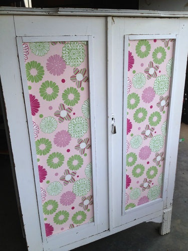 Antique Shabby Chic children's wardrobe  - perfect for a nursery for little girl. need to find something like this!