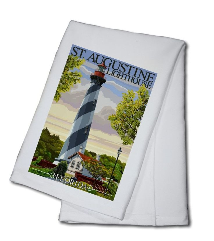 Towel (St. Augustine, Florida Lighthouse - Lantern Press Artwork)