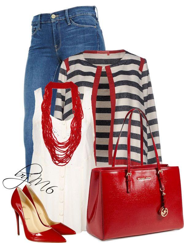 Manila Grace Striped Denim Blazer Stylish Outfit