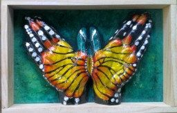 Butterfly ( yellow & green ) by 100percenthandmad on Etsy