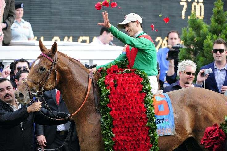 In 1904 the red rose became the official flower of the Kentucky Derby. The tradition was strengthened when, in 1925, New York sports columnist Bill Corum, later the president of Churchill Downs, dubbed the Kentucky Derby the Run for the Roses. The garland as it exists today was first introduced in 1932 for the 58th running won by Burgoo King.