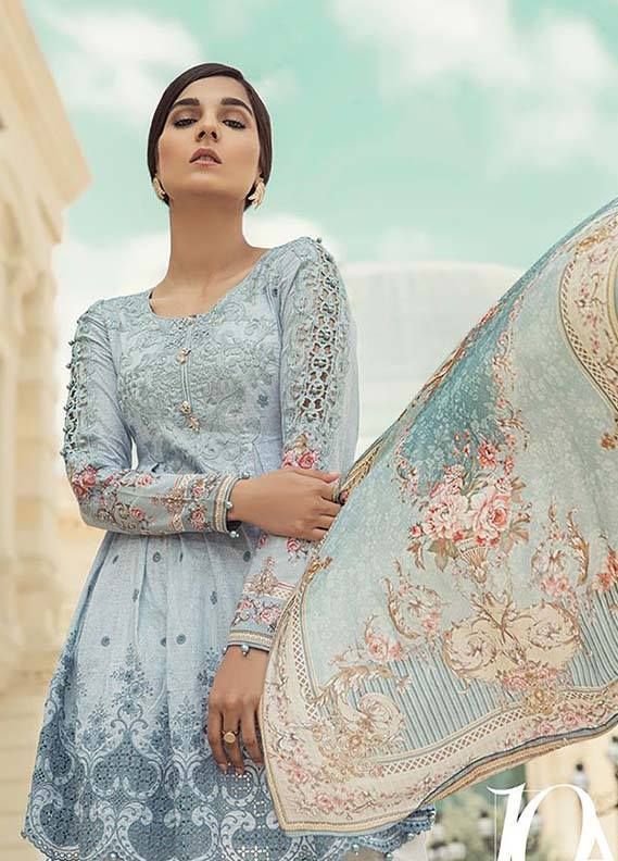 c86f60f8a1 Latest Collection Maria B Embroidered Lawn 2018 | 2019 collections ...