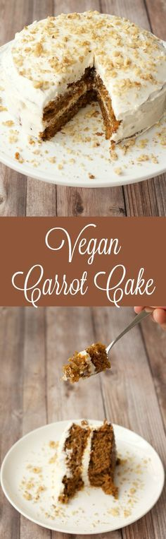 I've missed carrot cake so much since I became a vegan - and now I can have it!!