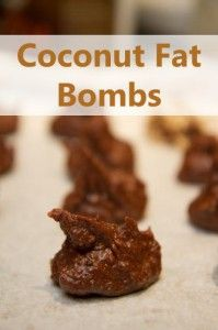 Coconut Fat Bombs #LCHF #Banting