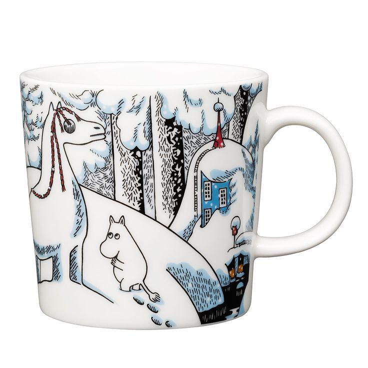 New Moomin Winter mug 2016 by Arabia Finland... gorgeous! #moomin #arabia #arabiamug #moominmug