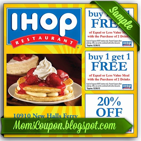 Free Printable Ihop Coupons       Sources         Discount      and Promo  for the International House of Pancakes or Ihop is something th...