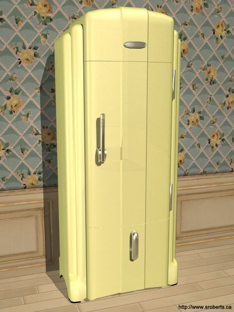 Art Deco fridge Why can't all appliances have this kind of style? …
