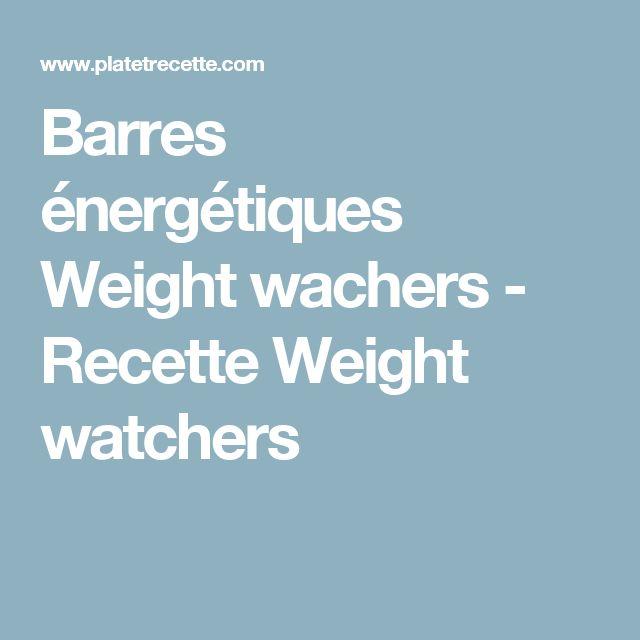Barres énergétiques Weight wachers - Recette Weight watchers