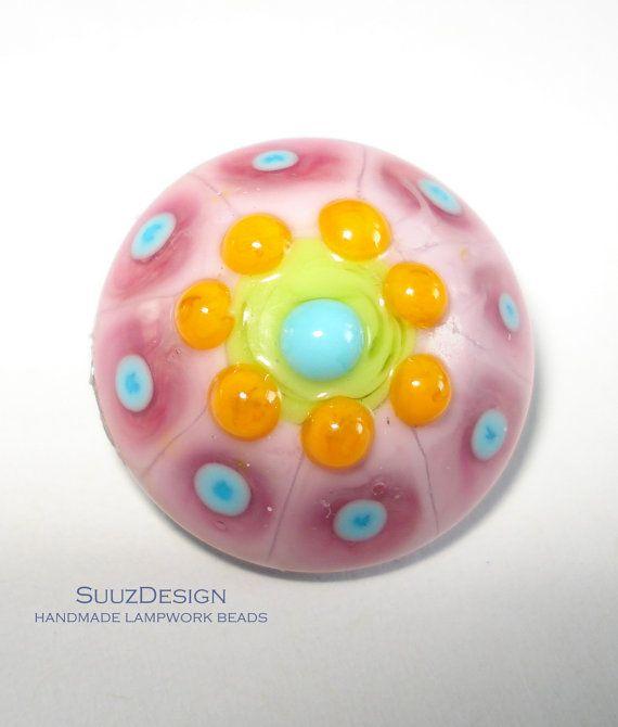 items similar to suuzdesign handmade lampwork popper chunk for your bracelet sra on etsy