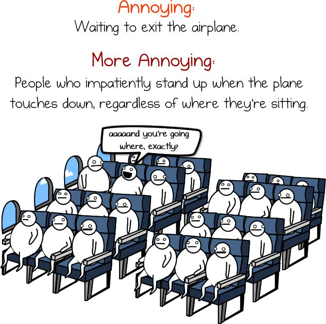 the problem these days is that stupid people can afford to fly
