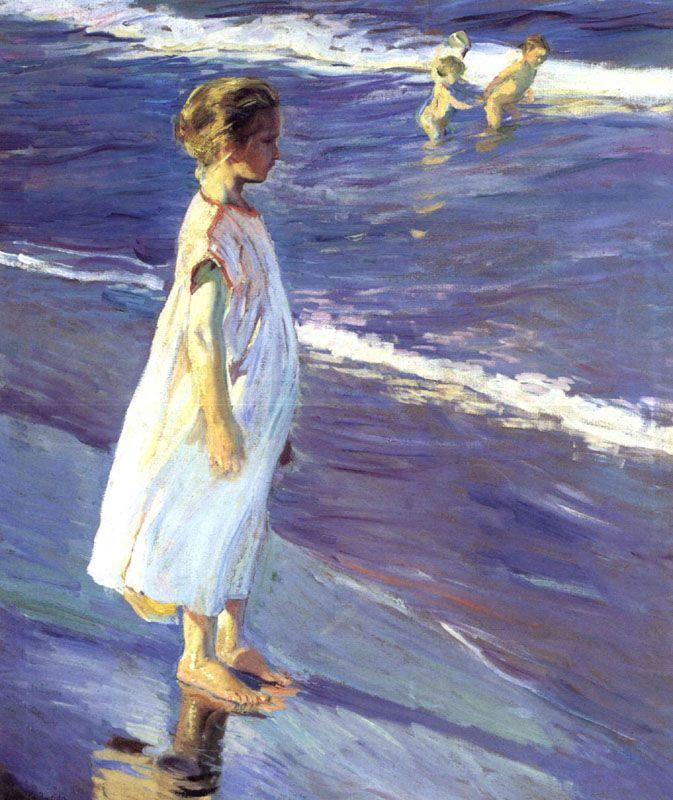 Sorolla - Niña en el mar