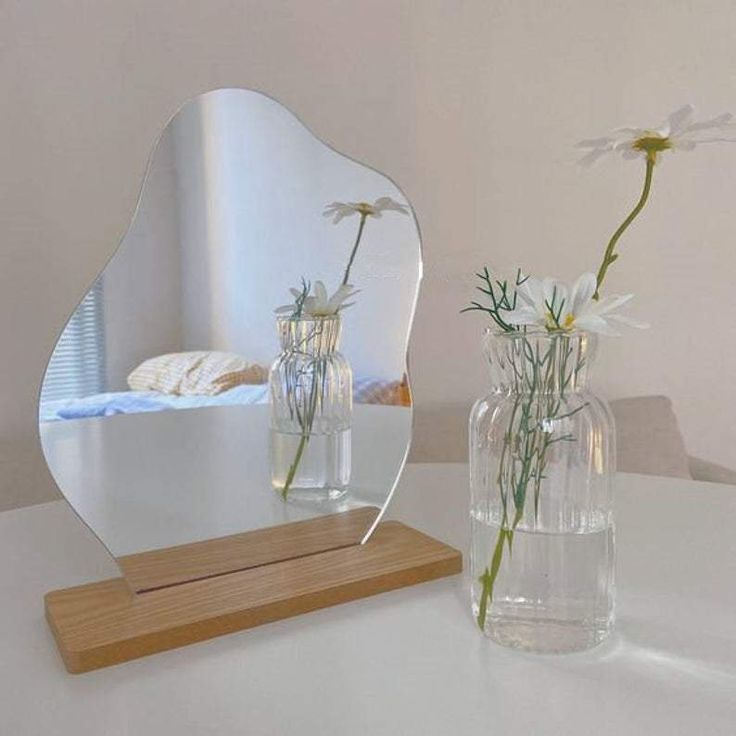 My New Room, My Room, Home Decor Mirrors, Bedroom Mirrors, Acrylic Mirror, Aliexpress, Interiores Design, Korean Fashion, Bedroom Decor