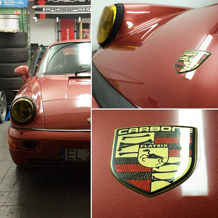 Customized Porsche crest by Car Bone Liveries.  www.car-bone.pl #carboneliveries #porsche