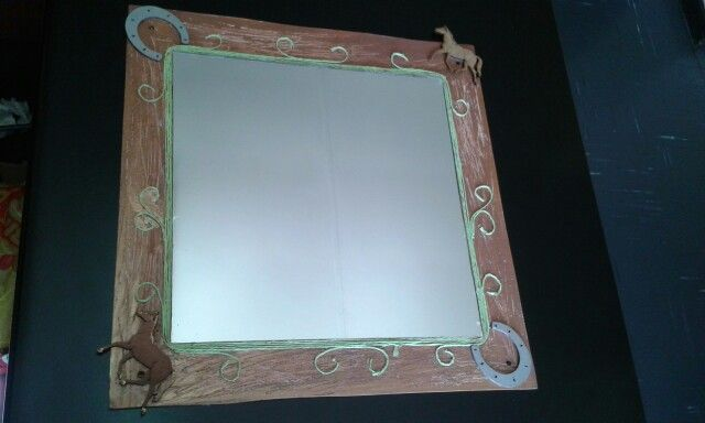 Mirror hand made for horse lovers