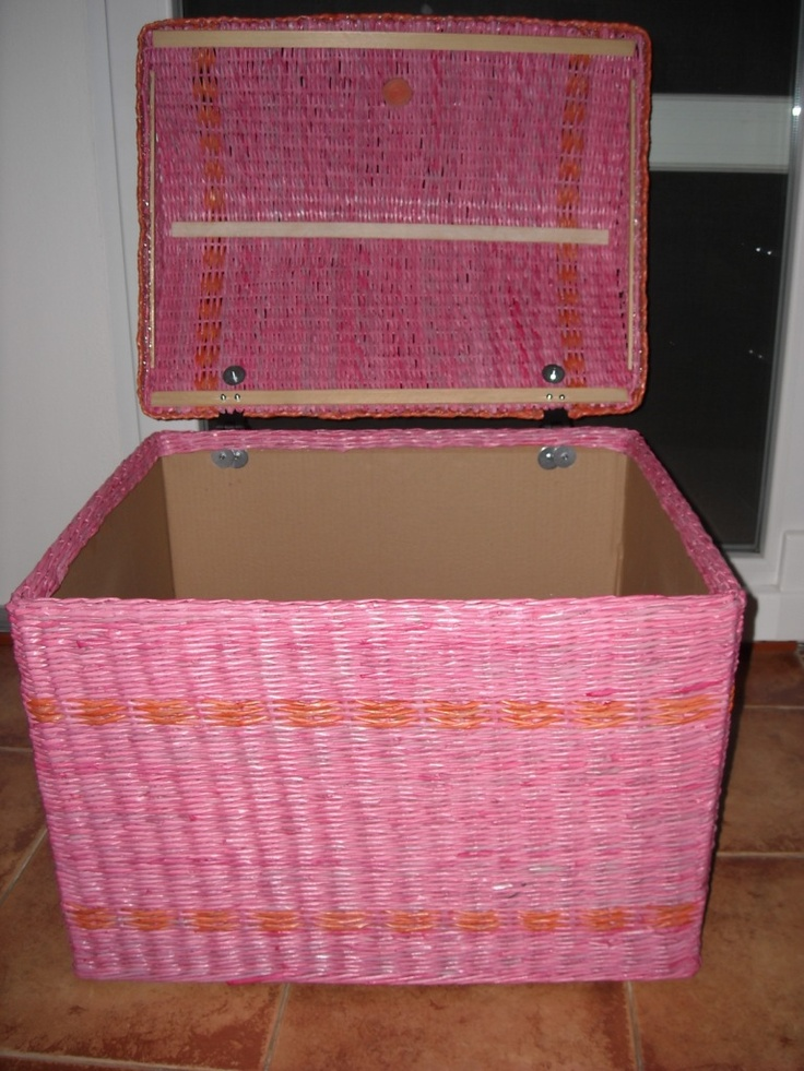 newspaper basket for laundry or toys