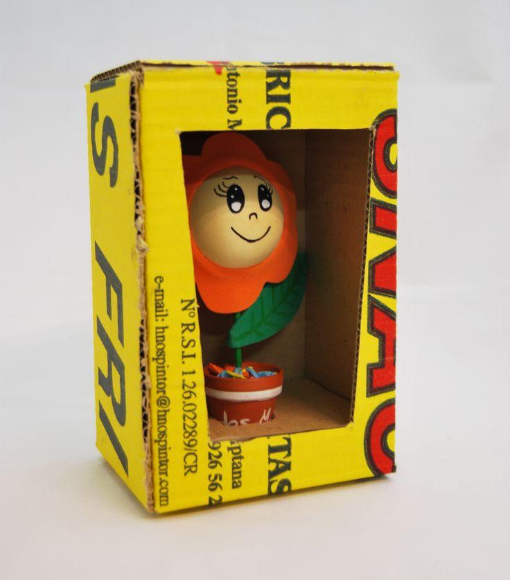 Packaging para flor de goma eva