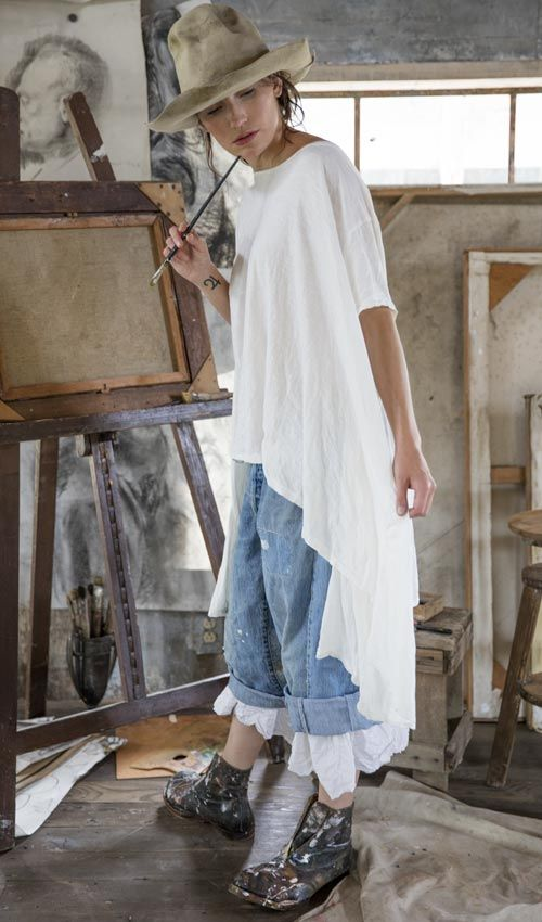 Magnolia Pearl Official Web Store : Beautiful Wear.....Cotton Jersey Jett T with Distressing $160.00