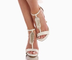 #weddingshoes #trousseaubridalshoes #bridalshoes A fun pair of wedding shoes showing off your gorgeous wedding pedi Check out www.trousseaubridalshoes.co.nz - worldwide shipping is available on our shoes, please contact us