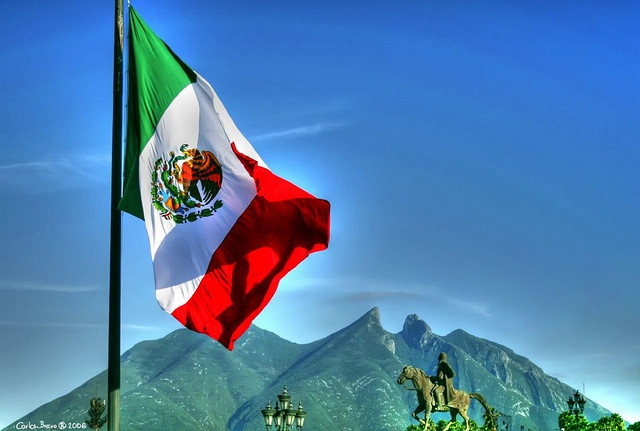 """Cerro de la Silla, Monterrey, Mexico. In English, """"Saddle Mountain"""". I hiked up there! (Yes - I hiked back down too!)"""