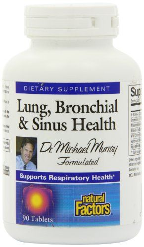 Natural Factors Lung, Bronchial and Sinus Health Tablets, 90-Count   Multi City Health  List Price: $34.26 Discount: $18.09 Sale Price: $16.17