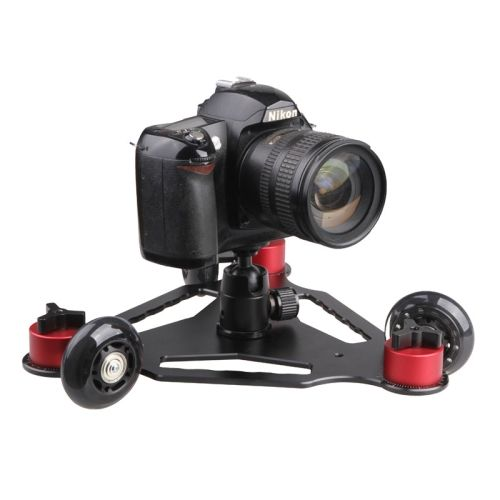 [USD30.01] [EUR28.60] [GBP22.47] Desktop Camera Rail Car Table Dolly Video Slider Track for DSLR Camcorder