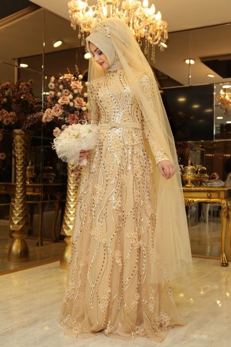 Buket Gold Evening Dress