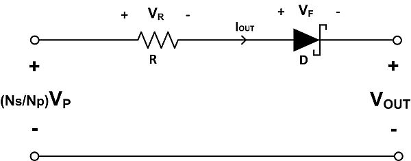The equivalent circuit of a Fly-Buck converter