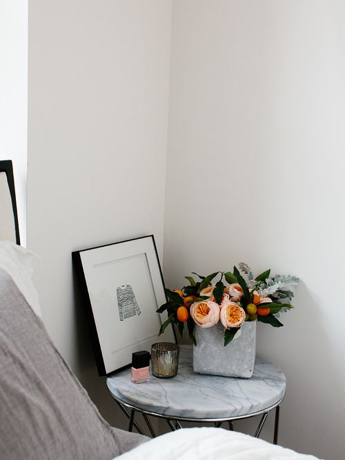 marble bedside + styling ♥