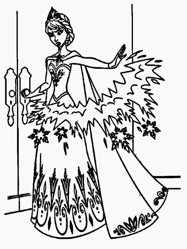 Elsas Face Coloring PagesFacePrintable Coloring Pages Free Download