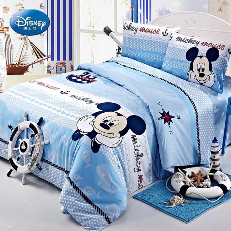 Mickey Mouse Blue Duvet Cover Bedding Set, Boys Like It!
