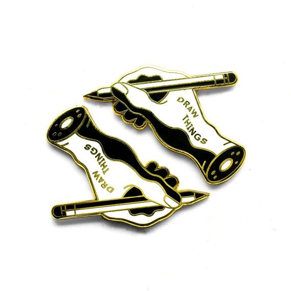 Draw Things Enamel Lapel Pin Badge // Artist Series pin by