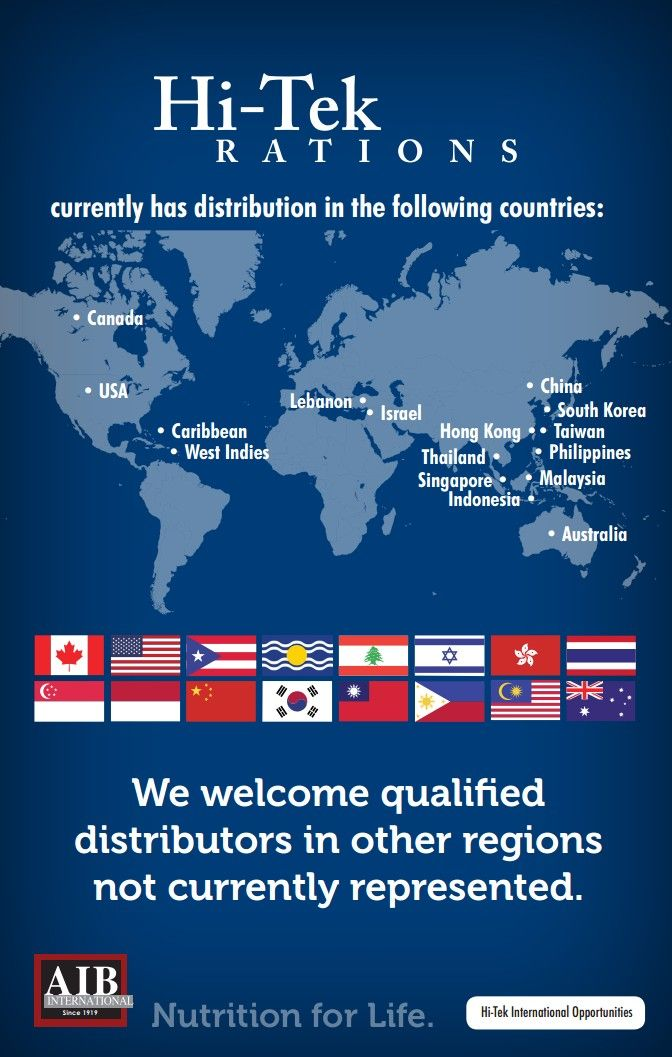 Hi-Tek supplies stores all over the world.