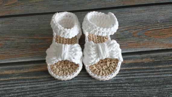 >> Click to Buy << Crochet Baby Sandals - Crochet Baby Bow Sandals - Baby Girl Sandals,0-12 Months,100% handmade #Affiliate
