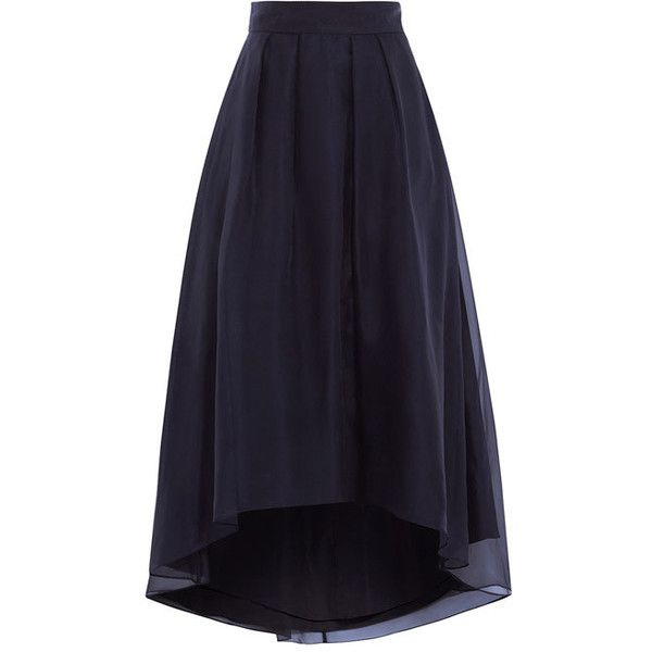 iridessa high low skirt (1.719.115 IDR) ❤ liked on Polyvore featuring skirts, mullet skirt, short front long back skirt, dip hem skirt, high low maxi skirt and blue high low skirt