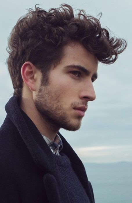 Long Curls On Top Hairstyle Men