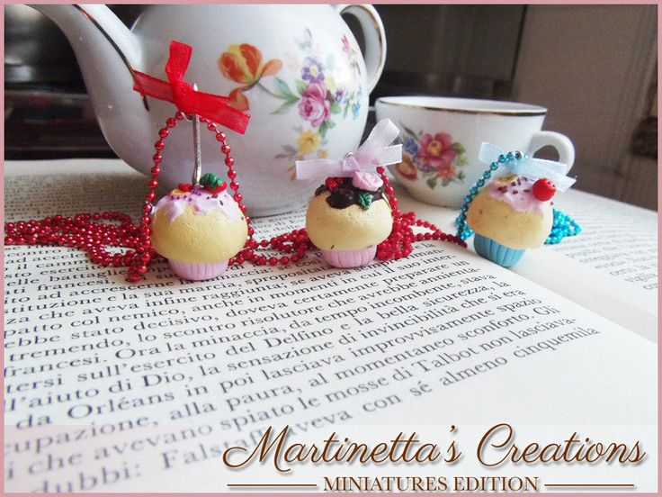 Collana cupcake colorati in fimo, by Martinetta's Creations -Miniatures Edition-, 8,00 € su #misshobby.com