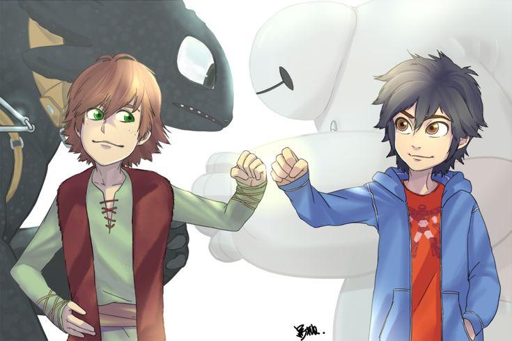 Hiccup and Hiro by kuropeach.deviantart.com on @DeviantArt