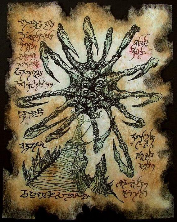 Beyon d cthulhu larp Necronomicon Fragment par zarono sur Etsy
