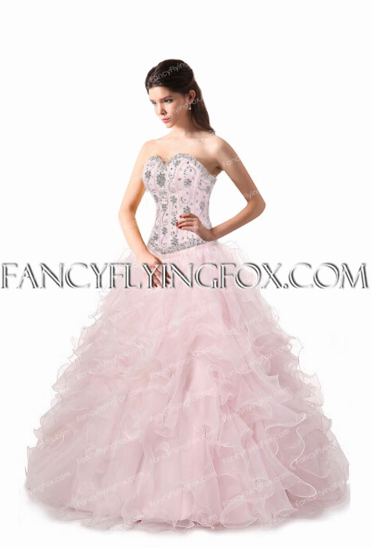 fancyflyingfox.com Offers High Quality Beaded Bodice Basque Waist Pink Quinceanera Dress ,Priced At Only US$285.00 (Free Shipping)