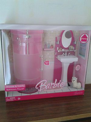 Barbie Home Shower and Vanity Luxury Bathroom Playset 2006 New VHTF | eBay